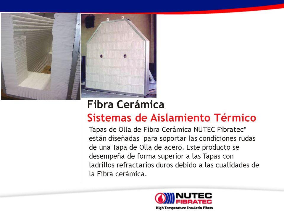 Fibra Cerámica Sistemas de Aislamiento Térmico Tapas de Olla de Fibra Cerámica NUTEC Fibratec* están diseñadas para soportar las condiciones rudas de una Tapa de Olla de acero.