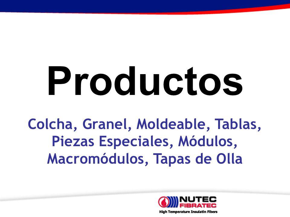 Productos Colcha, Granel, Moldeable, Tablas, Piezas Especiales, Módulos, Macromódulos, Tapas de Olla