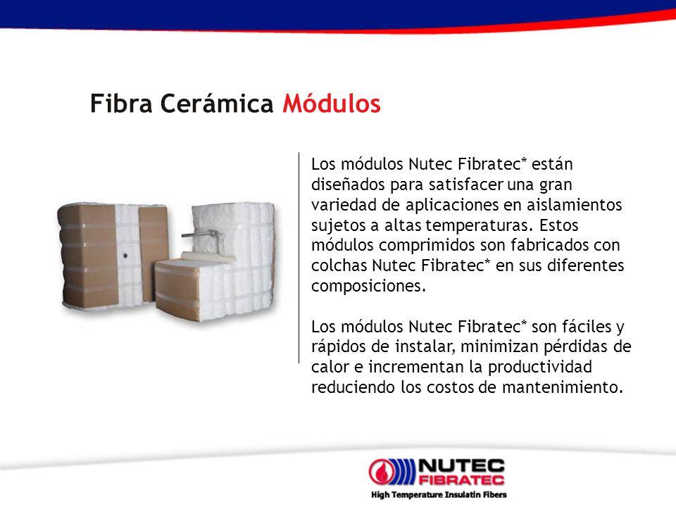 Los módulos Nutec Fibratec* están diseñados para satisfacer una gran variedad de aplicaciones en aislamientos sujetos a altas temperaturas. Estos módu