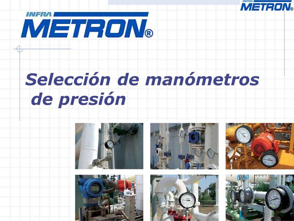 Selección de manómetros de presión