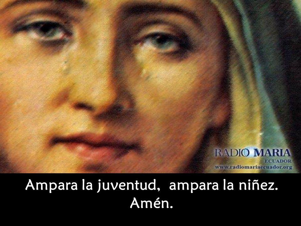Oh Madre Dolorosa ¡ Protege a la Santa Iglesia, Protege a nuestra Patria !