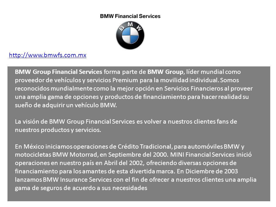 BMW Group Financial Services forma parte de BMW Group, líder mundial como proveedor de vehículos y servicios Premium para la movilidad individual. Som