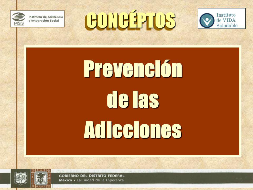 Prevención de las Adicciones CONCÉPTOSCONCÉPTOS