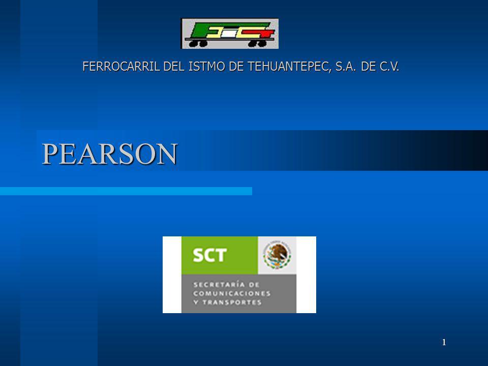 1 PEARSON FERROCARRIL DEL ISTMO DE TEHUANTEPEC, S.A. DE C.V.