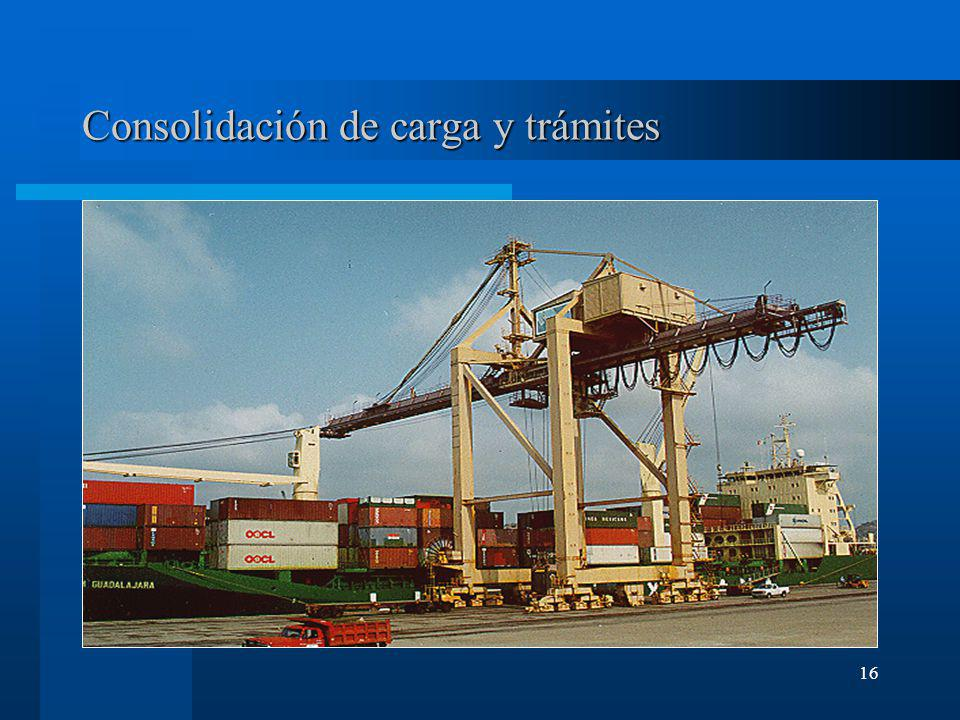 16 Consolidación de carga y trámites