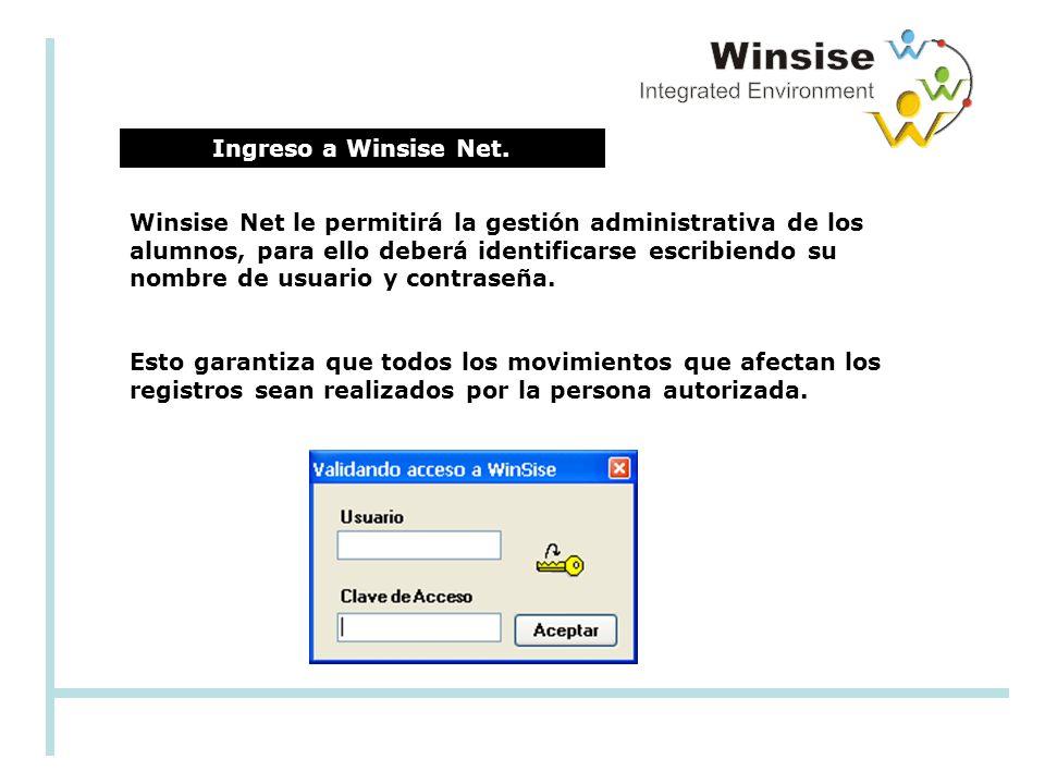 Ingreso a Winsise Net.
