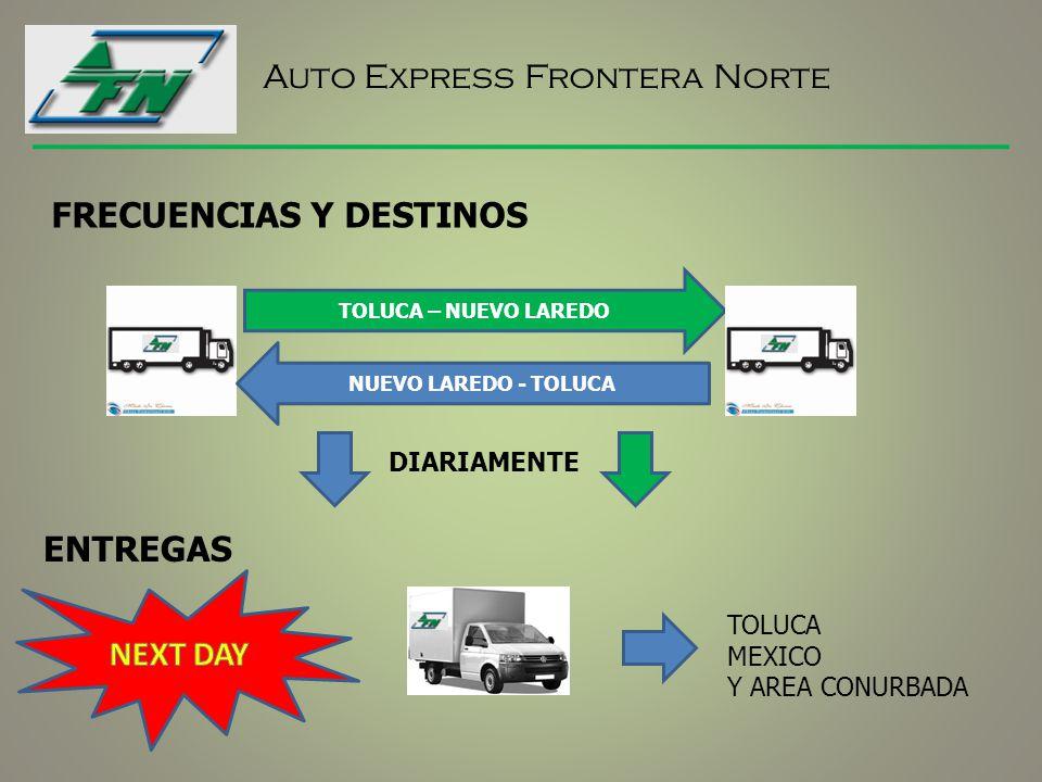 Auto Express Frontera Norte CONTACTO: Alfredo Nobel S/N Lt 2, 3 Y 4, Zona Industrial, 50070 Toluca de Lerdo, Estado de México 01 722 213 3725.