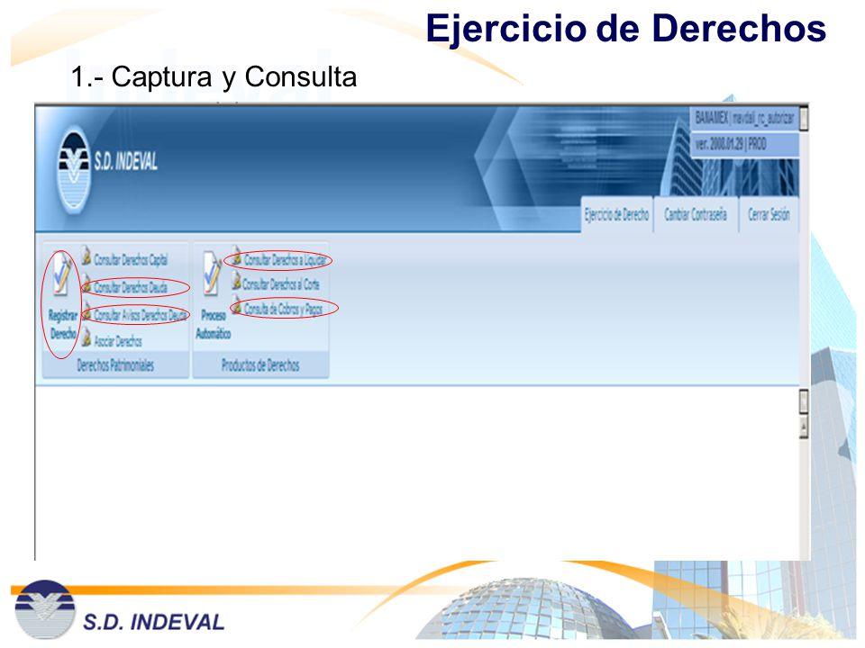 1.- Captura y Consulta Ejercicio de Derechos