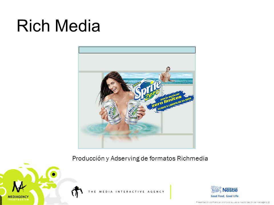 Presentación confidencial prohibido su uso sin autorización de Mediagency® Rich Media Producción y Adserving de formatos Richmedia