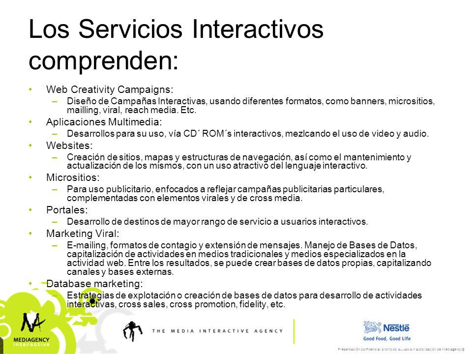 Presentación confidencial prohibido su uso sin autorización de Mediagency® MA Interactive