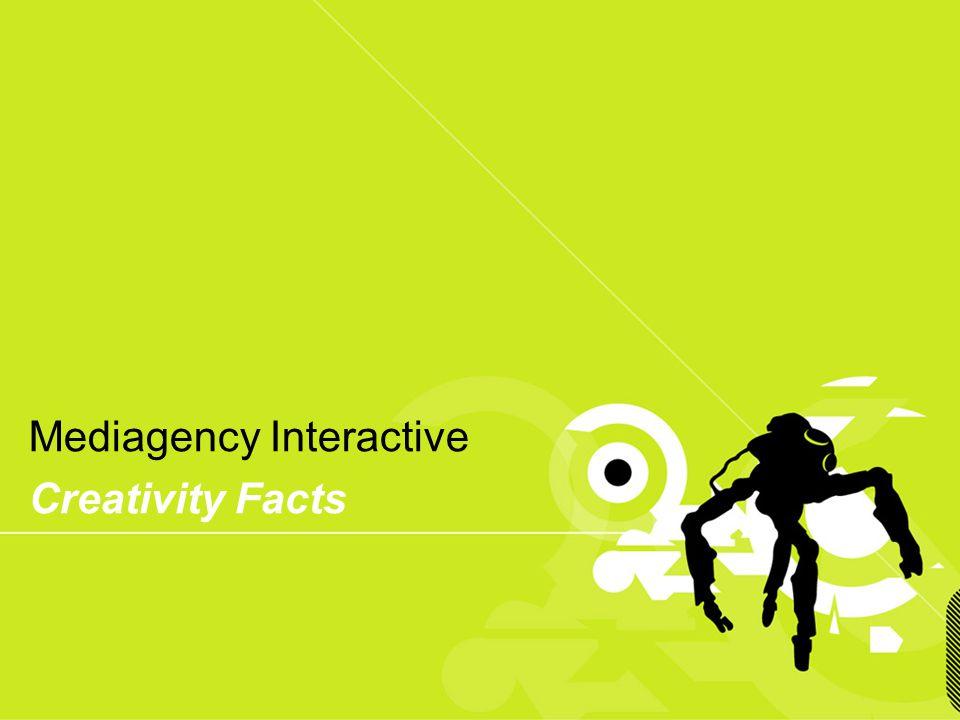 Presentación confidencial prohibido su uso sin autorización de Mediagency® Mediagency Interactive Creativity Facts