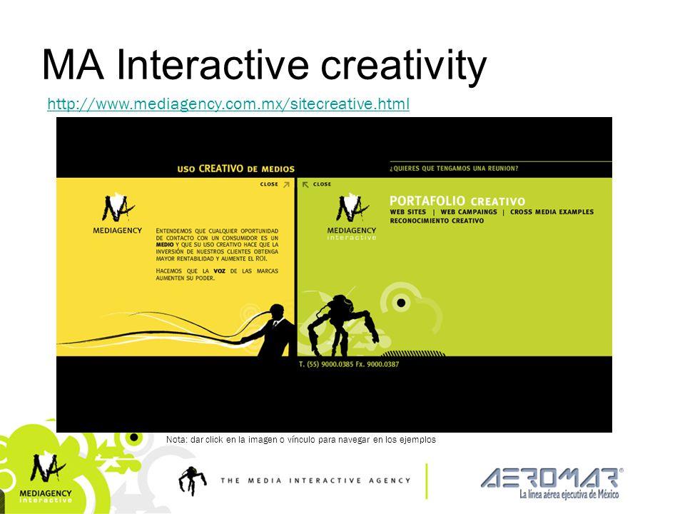 Presentación confidencial prohibido su uso sin autorización de Mediagency® MA Interactive creativity http://www.mediagency.com.mx/sitecreative.html No