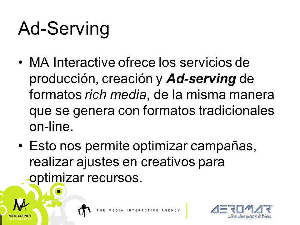 Presentación confidencial prohibido su uso sin autorización de Mediagency® Ad-Serving MA Interactive ofrece los servicios de producción, creación y Ad