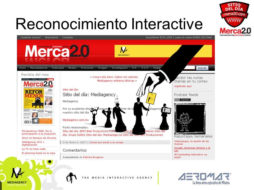 Presentación confidencial prohibido su uso sin autorización de Mediagency® Reconocimiento Interactive