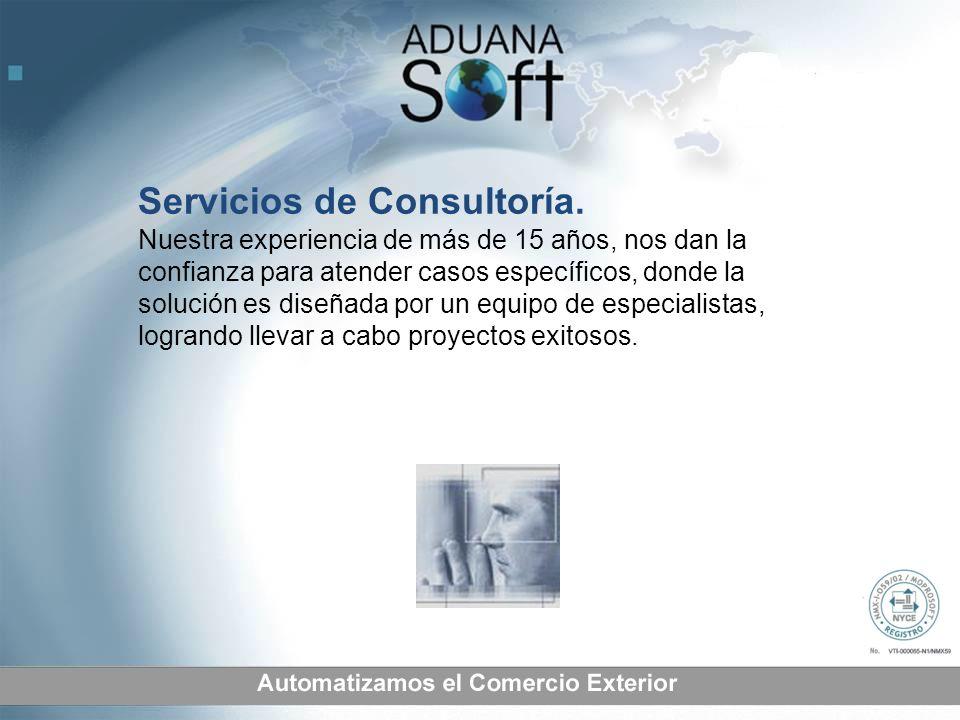 Servicios de Consultoría. Nuestra experiencia de más de 15 años, nos dan la confianza para atender casos específicos, donde la solución es diseñada po