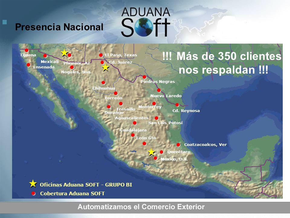 San Luis Potosí México, D.F. Coatzacoalcos, Ver Guadalajara Monterrey Piedras Negras Cd. Reynosa Ensenada Torreón Chihuahua Cd. Juárez El Paso, Texas