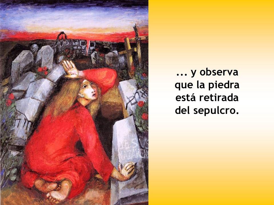 El primer día de la semana, muy temprano, cuando todavía estaba oscuro, María Magdalena va al sepulcro...