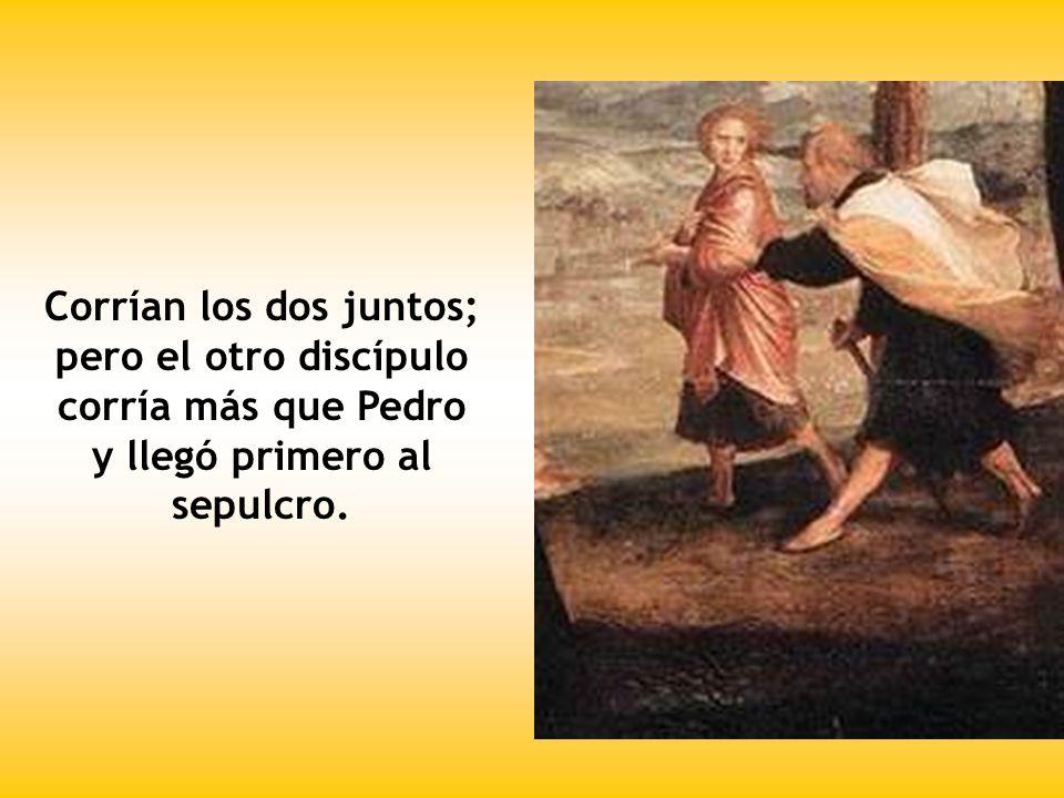 Salió Pedro con el otro discípulo y se dirigieron al sepulcro.