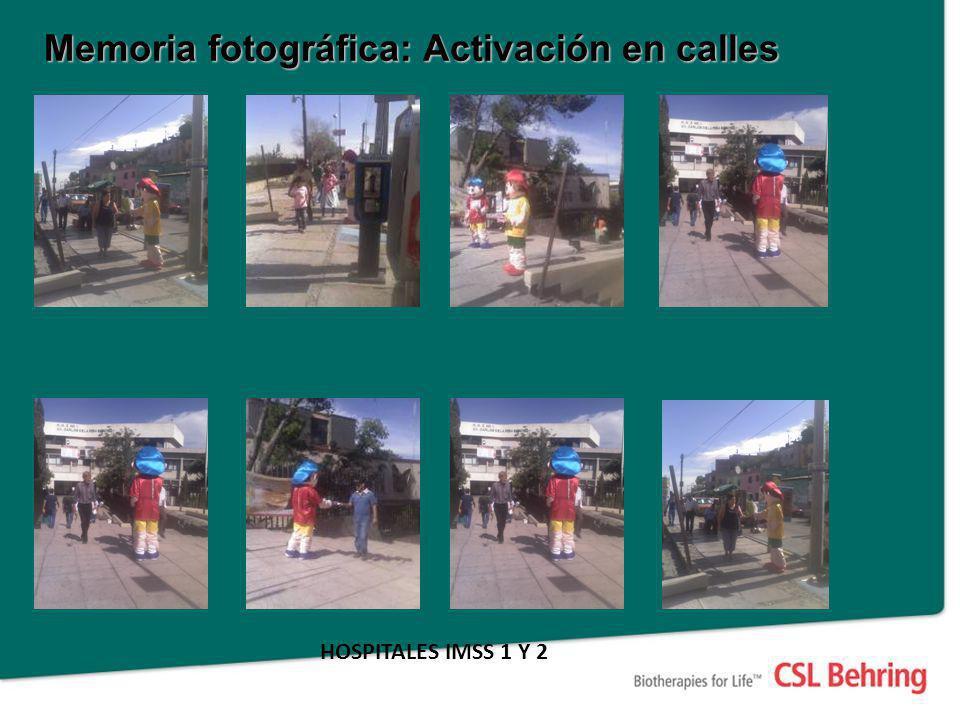 Memoria fotográfica: Activación en calles HOSPITALES IMSS 1 Y 2