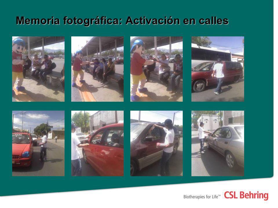 Memoria fotográfica: Activación en calles