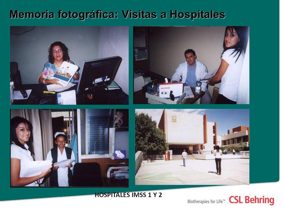 Memoria fotográfica: Visitas a Hospitales HOSPITALES IMSS 1 Y 2