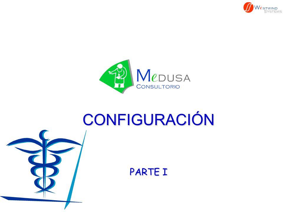 CONFIGURACIÓN El primer paso a seguir en MEDUSA es definir la forma en que trabaja el médico o médicos en su consulta.