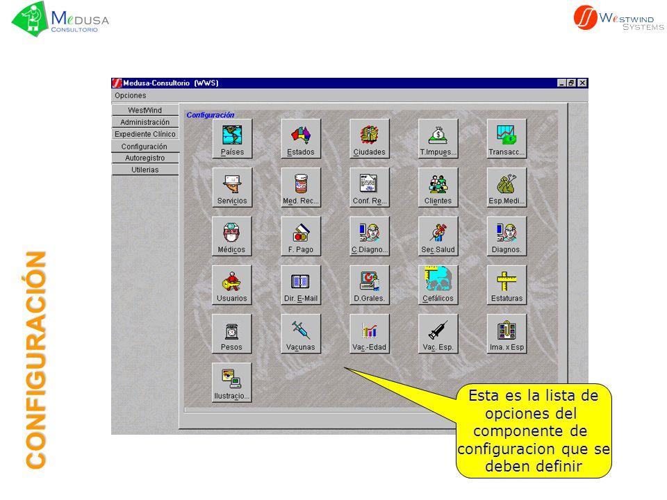 Para ejemplificar empezamos con el diseño de la receta Esto lo hacemos seleccionando el icono con el ratón y presionando el botón izquierdo CONFIGURACIÓN