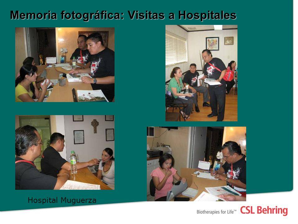Memoria fotográfica: Visitas a Hospitales Hospital Muguerza