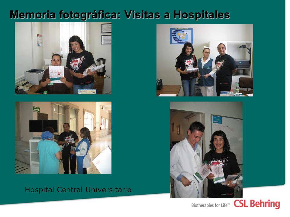 Memoria fotográfica: Visitas a Hospitales Hospital Central Universitario