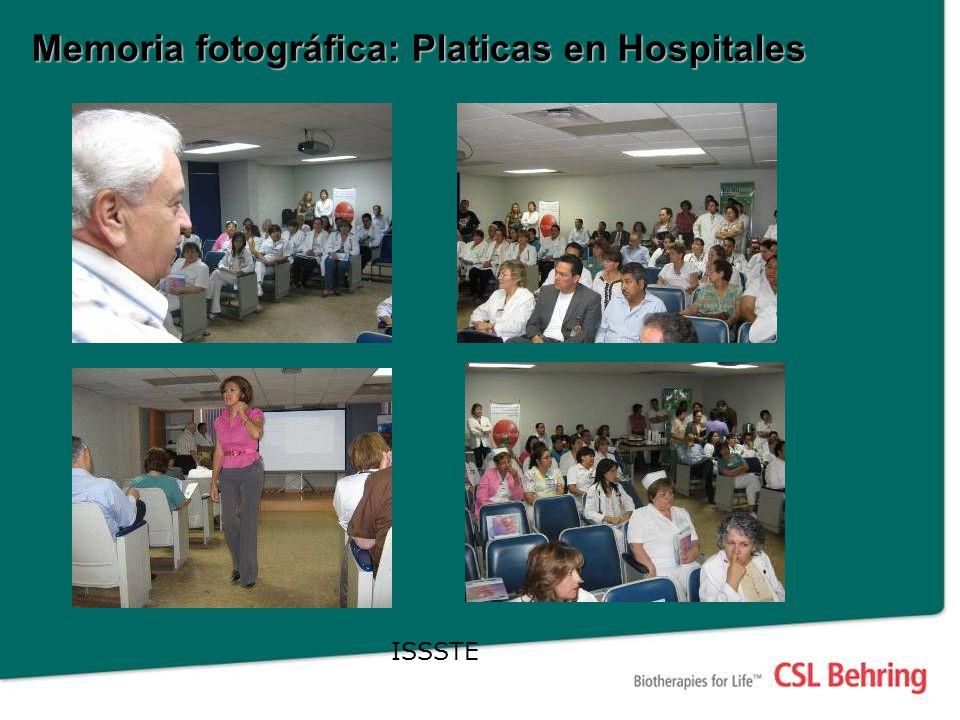Memoria fotográfica: Platicas en Hospitales ISSSTE