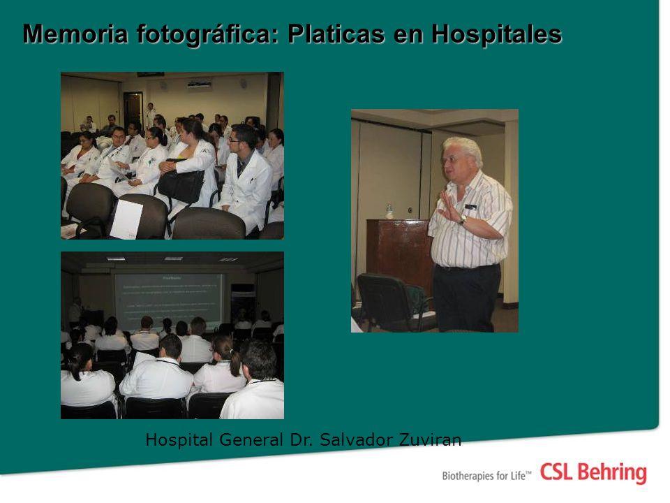 Memoria fotográfica: Platicas en Hospitales Hospital General Dr. Salvador Zuviran