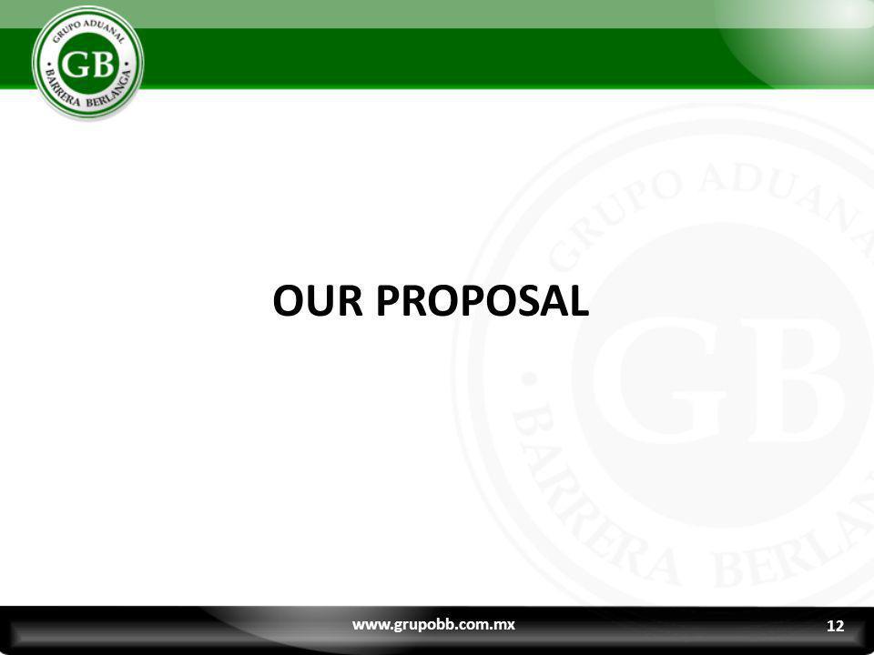 12 OUR PROPOSAL www.grupobb.com.mx 12