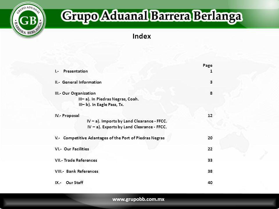 Organization Chart Partner Representatives 11 www.grupobb.com.mx 11 Fernando Barrera Custom Broker fbarrera@grupobb.com.mx Ing.