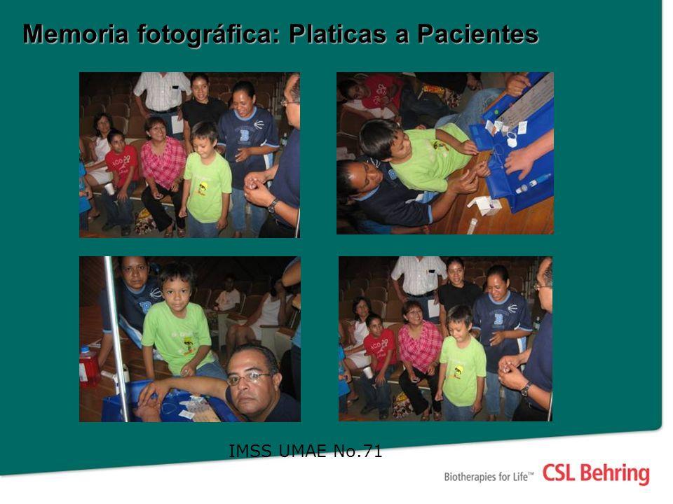 Memoria fotográfica: Platicas a Pacientes IMSS UMAE No.71