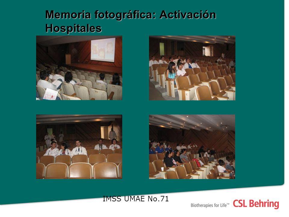 Memoria fotográfica: Activación Hospitales IMSS UMAE No.71