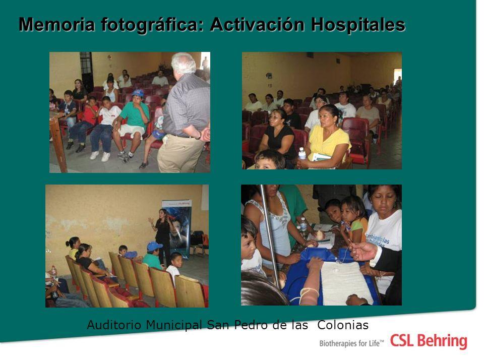 Auditorio Municipal San Pedro de las Colonias Memoria fotográfica: Activación Hospitales