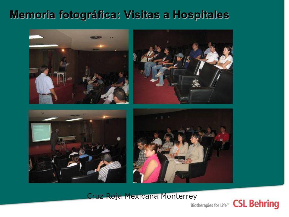 Memoria fotográfica: Visitas a Hospitales Cruz Roja Mexicana Monterrey