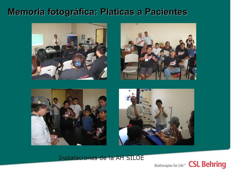 Memoria fotográfica: Platicas a Pacientes Instalaciones de la AH SILOE