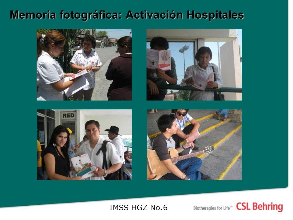 Memoria fotográfica: Activación Hospitales IMSS HGZ No.6