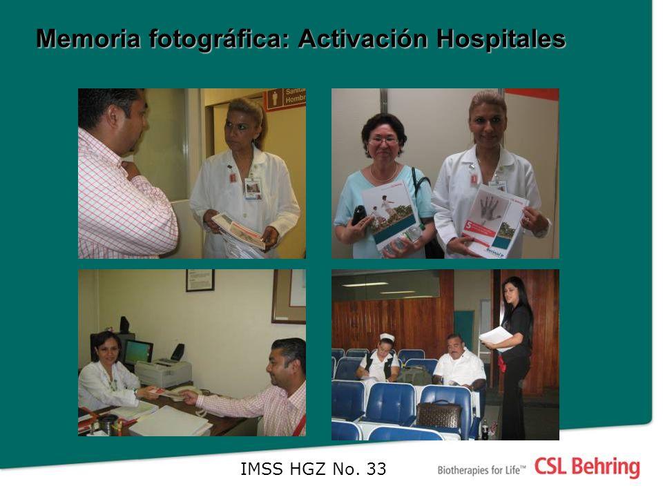 Memoria fotográfica: Activación Hospitales IMSS HGZ No. 33