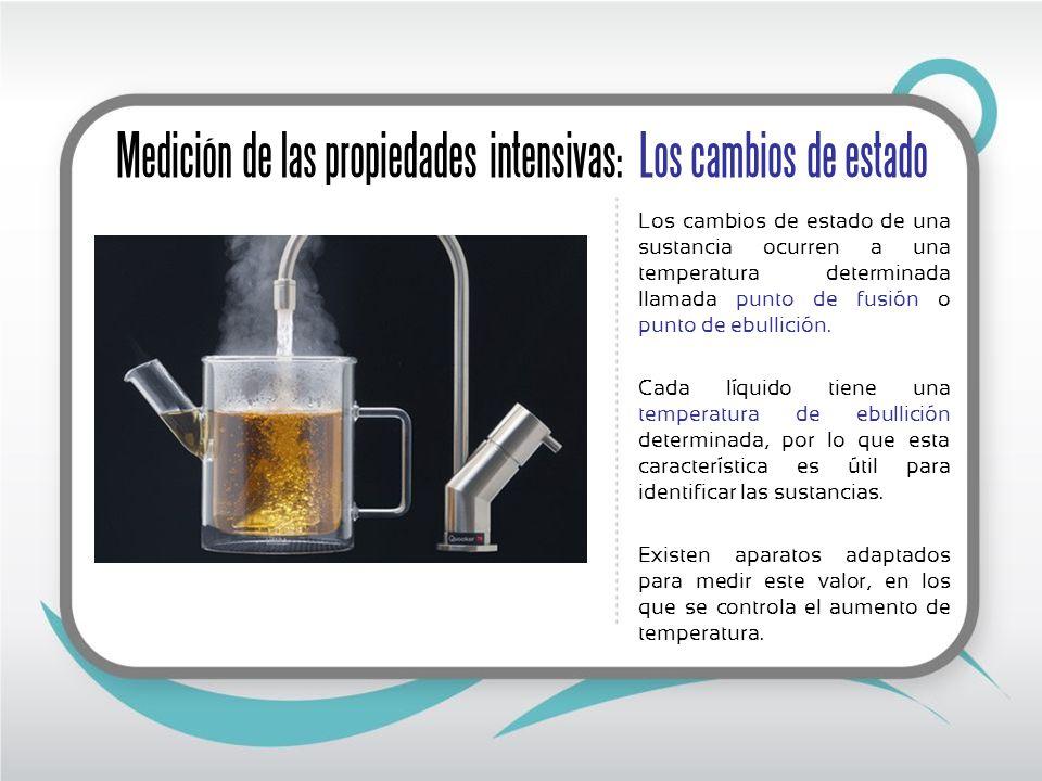 Medición de las propiedades intensivas: viscosidad A la resistencia de los líquidos a fluir se conoce como viscosidad.