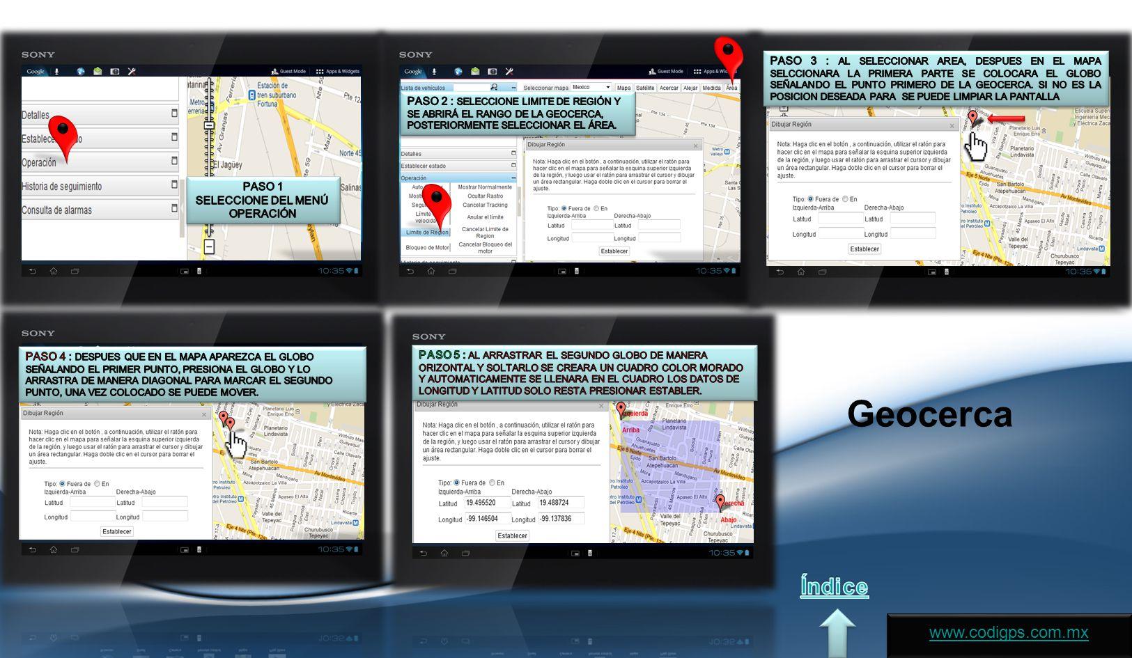 Geocerca www.codigps.com.mx