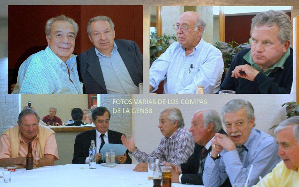 MANUEL LLACA DIRECTIVO DE PAJARES Y COMPA DE LA GEN58 AGRADECE SU PRESENCIA