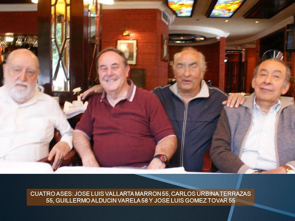 ASISTIERON: GUILLERMO ALDUCIN VARELA 58, JOSE LUIS VALLARTA MARRON 55, FRANCISCO DE LA SELVA 56, JOAQUIN BARANDA 55, JOSE LUIS GOMEZ TOVAR 55, FRANCIS