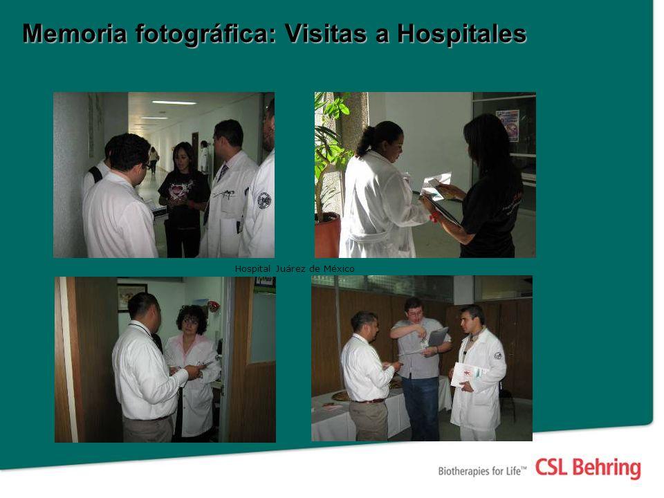 Memoria fotográfica: Visitas a Hospitales Hospital Juárez de México
