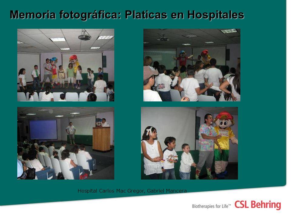 Memoria fotográfica: Platicas en Hospitales Hospital Carlos Mac Gregor, Gabriel Mancera