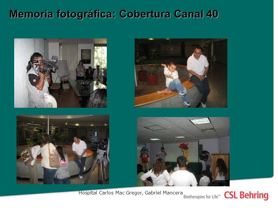 Memoria fotográfica: Cobertura Canal 40 Hospital Carlos Mac Gregor, Gabriel Mancera