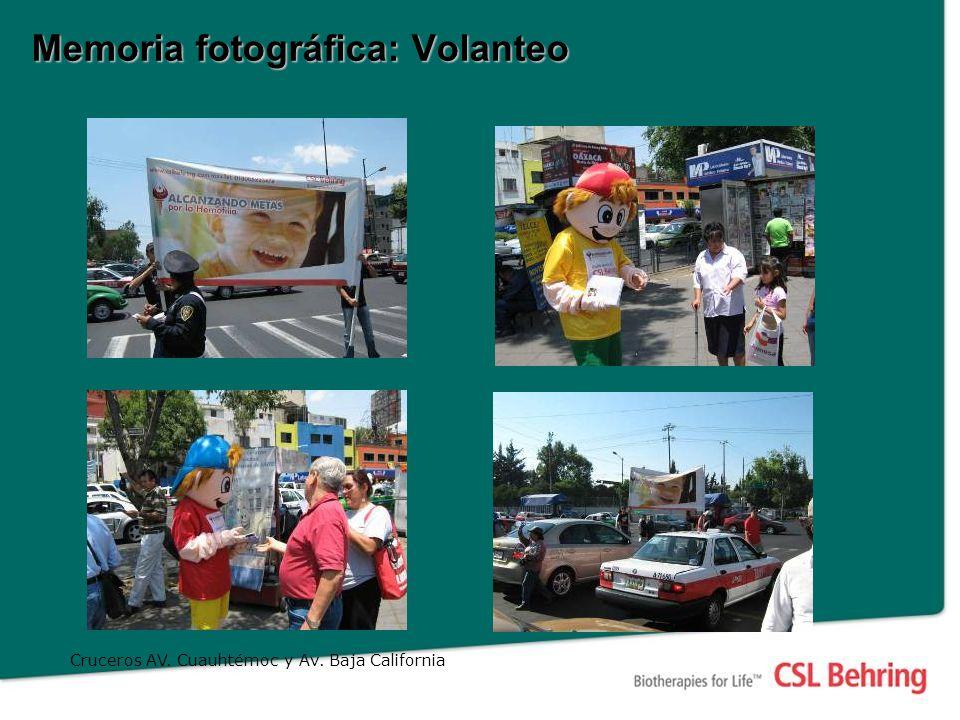 Memoria fotográfica: Volanteo Cruceros AV. Cuauhtémoc y Av. Baja California