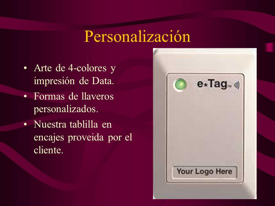 Programación de Tarjetas Software Disponible para programación de tarjetas.