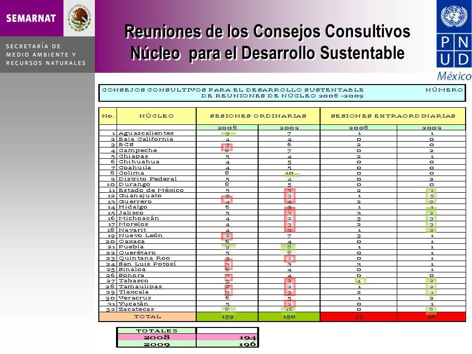 Reuniones de los Consejos Consultivos Núcleo para el Desarrollo Sustentable